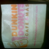 Photo taken at Dunkin' Donuts by Ana C. on 11/13/2012