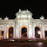 Photo taken at Alcalá Gate by Isabel S. on 10/1/2012