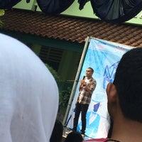 Photo taken at SMAN 61 Jakarta by Zhafira Z. on 8/30/2014
