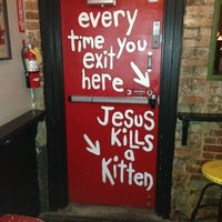 Photo taken at Sister Louisa's Church of the Living Room and Ping Pong Emporium by OTP P. on 5/27/2013