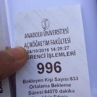 Photo taken at Anadolu Üniversitesi Açıköğretim Fakültesi Bürosu by ::::::::::: .. on 10/24/2016
