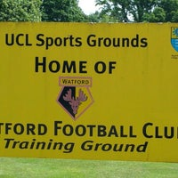 Photo taken at Watford Football Club training ground by Dene G. on 6/19/2016