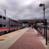 Photo taken at Hayward Park Caltrain Station by River M. on 2/12/2014
