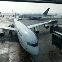 Photo taken at Lufthansa Senator Lounge C by Ivan R. on 3/14/2013