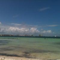 Photo taken at Playa Langosta by VivoEnCancun on 10/14/2012