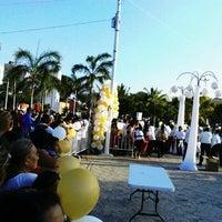 Foto tomada en Parque de las Palapas por VivoEnCancun el 2/14/2013