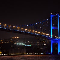 Photo taken at Bosphorus Bridge by Oguz H e. on 8/22/2013
