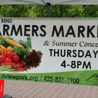 Photo taken at North Bend Farmers Market by Sheraz M. on 6/14/2013