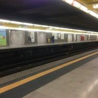 Photo taken at Metro Sondrio (M3) by Benedetta B. on 6/23/2013