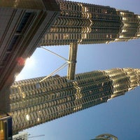 Photo taken at KLCC  Twin Tower by Woelan S. on 5/13/2013