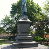 Photo taken at Friedrich von Schiller Statue by Bill D. on 5/26/2014
