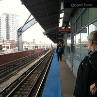 Photo taken at CTA - Howard by Bill D. on 12/19/2012