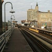 Photo taken at CTA - Damen (Blue) by Bill D. on 11/1/2012