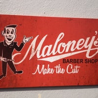 Photo taken at Maloney's Barber Shop by Tony W. on 9/30/2012