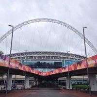 Photo taken at Wembley Stadium by Koji Y. on 10/22/2013