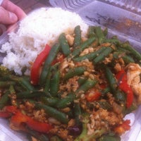 Photo taken at E-San Thai Food Cart by Ryan L. on 2/14/2013