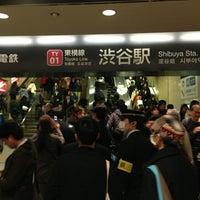 Photo taken at Toyoko Line Shibuya Station (TY01) by NYLON on 3/15/2013