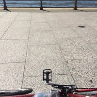Photo taken at Two Too Large Tables - Hudson River Park by Yas H. on 7/6/2014