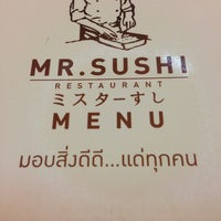 Photo taken at Mr.Sushi by Kantapong p. on 10/14/2013