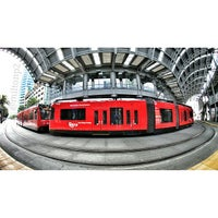 Photo taken at America Plaza Trolley Station by Milton on 5/9/2013