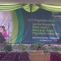 Photo taken at PT Pegadaian (Persero) Kanwil X Bandung by Awalia G. on 3/23/2013