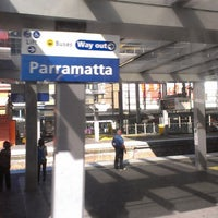 Photo taken at Parramatta Station by Steve W. on 3/22/2013