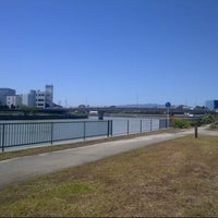 Photo taken at 神崎川河川敷 by Shinichi M. on 9/17/2013