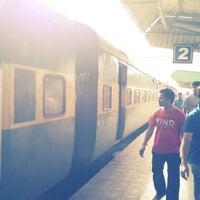 Photo taken at Balharshah Railway Station by Radhae K. on 10/1/2013