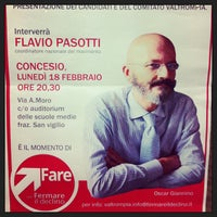 Photo taken at Auditorium Scuole Medie by Giuseppe L. on 2/18/2013