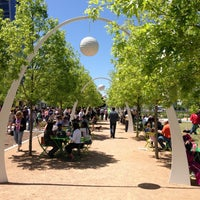 Photo taken at Klyde Warren Park by Chris M. on 4/20/2013