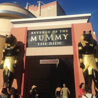 Photo taken at Revenge of the Mummy - The Ride by jyatelier on 7/30/2013