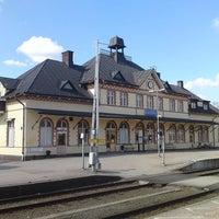 Photo taken at Hultsfreds järnvägsstation by Sebastian B. on 1/4/2015