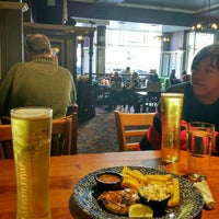 Photo taken at The Berkeley (Wetherspoon) by Vic K. on 10/1/2015