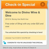 Photo taken at Divino Wine & Dine by Steph Y. on 2/13/2013