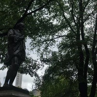 Photo taken at William Shakespeare Statue by David H. on 7/22/2018