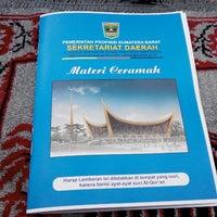 Photo taken at Kantor Gubernur Sumatera Barat by Argo P. on 10/4/2014