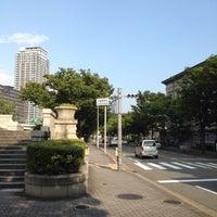 Photo taken at 水晶橋南詰 交差点 by ボブデビンチョ @. on 9/4/2015