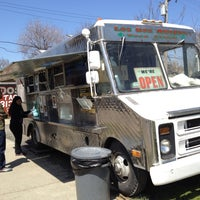 Photo taken at Los Dos Amigos Taco Truck by elena l. on 4/27/2013