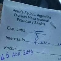 Photo taken at Policia Federal Argentina Departamento Central de Policia by Sofia P. on 4/15/2014