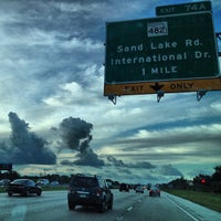 Photo taken at I-4 Exit 74A, SR 482/Sand Lake Road by @jenvargas . on 7/16/2013