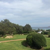 Photo taken at Hotel Romazzino, Costa Smeralda by Catherina J. on 9/14/2015