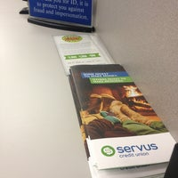 Photo taken at Servus Credit Union by Jerry A. on 2/19/2013