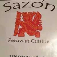 Photo taken at Sazón - Peruvian Cuisine by Dan L. on 8/6/2016