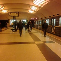 Photo taken at metro Ulitsa Akademika Yangelya by Светлана Б. on 2/9/2013