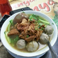 Photo taken at Bakso Amat by Merry D. on 4/10/2013