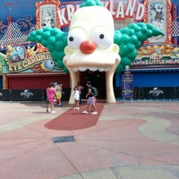 Photo taken at The Simpsons Ride by John C. on 9/27/2012
