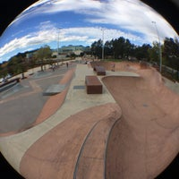 Photo taken at Belconnen Skate Park by Andy C. on 4/15/2014