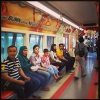 Photo taken at Monas Booth Indosat Jakarta Monorail by Arie N. on 7/1/2013