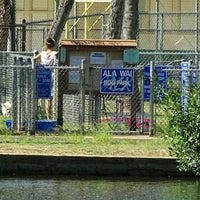 Photo taken at Ali Wai Canal Dog Park (unofficial) by Stephen C. on 8/3/2015