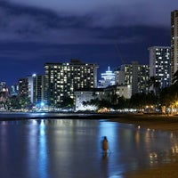 Photo taken at Waikiki Beach Walls by Stephen C. on 9/9/2015